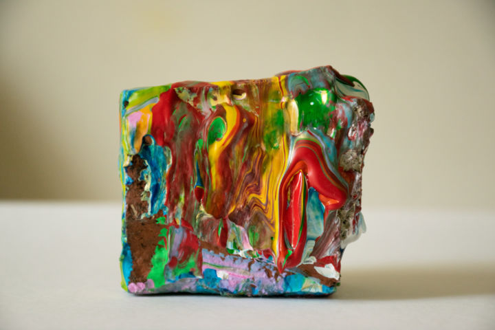 """Sculpture titled """"Nothing is set in s…"""" by M Mystery Artist, Original Art, Acrylic"""
