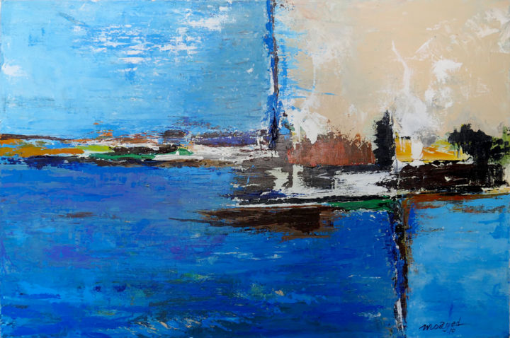 """Painting titled """"It could be a city"""" by Moayed Shlemon, Original Art, Acrylic"""