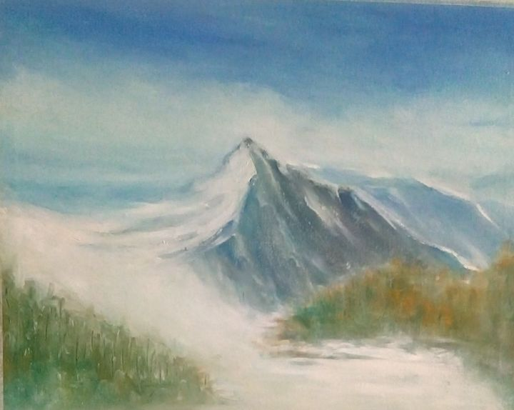 """Painting titled """"In the winter"""" by Mociart, Original Art, Oil"""