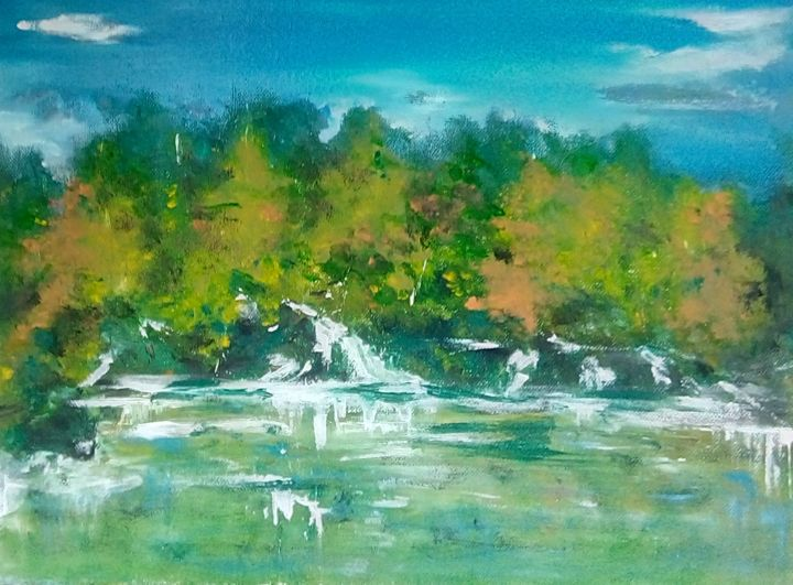 """Painting titled """"Wother and the Sale…"""" by Mociart, Original Art, Oil"""