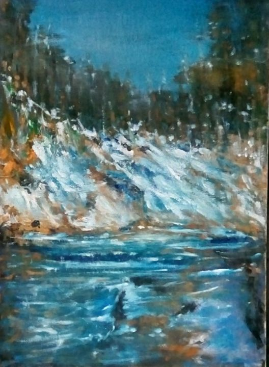 """Painting titled """"When the snow is co…"""" by Mociart, Original Art, Oil"""