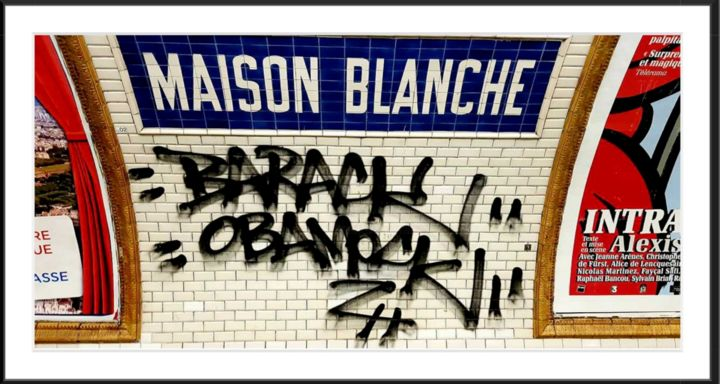 """Photography titled """"""""Maison Blanche"""" Ré…"""" by ⭐Mock⭐, Original Art, Analog photography Mounted on Aluminium"""