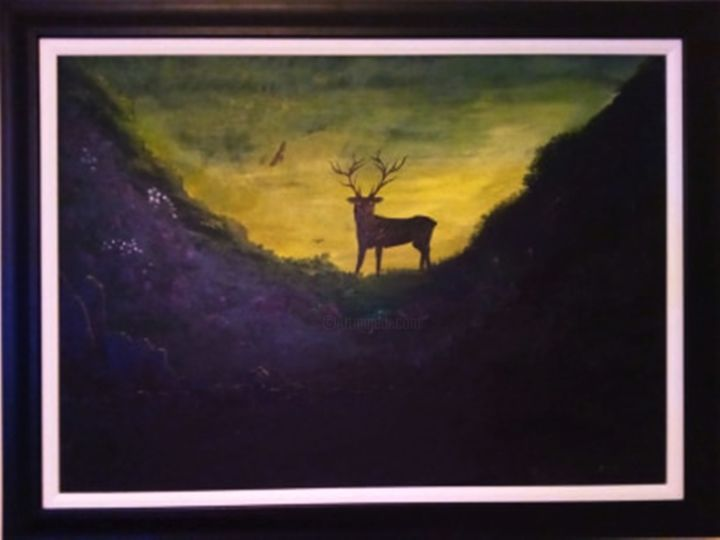 """Painting titled """"The Glen"""" by Mick Odonnell, Original Art, Acrylic"""