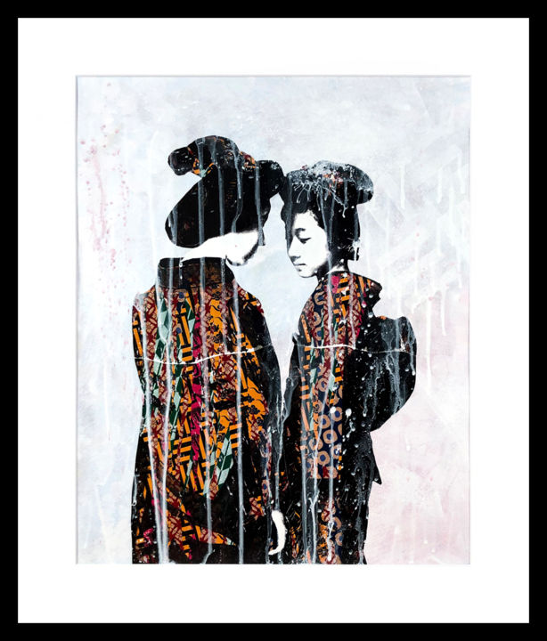 """Painting titled """"Two Sisters"""" by Modesty, Original Art, Acrylic"""