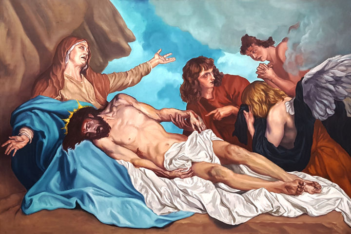 """Painting titled """"The Lamentation of…"""" by Arta85, Original Art, Oil"""