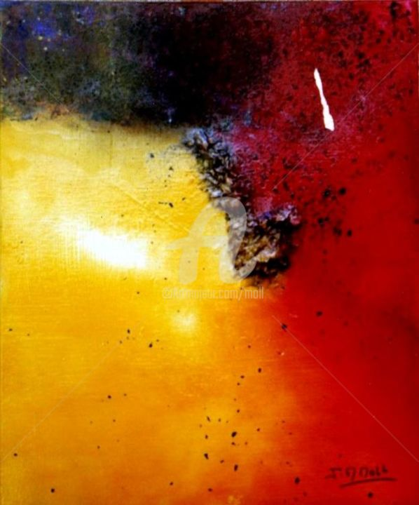 Painting,  38 x 46 cm ©2004 by Jean-Marie Moll -  Painting, Abstract Painting, hommage amour imaginaire abstrait