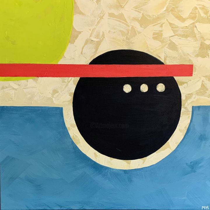 """Painting titled """"balance."""" by Molly Hoff, Original Art, Acrylic Mounted on Wood Panel"""