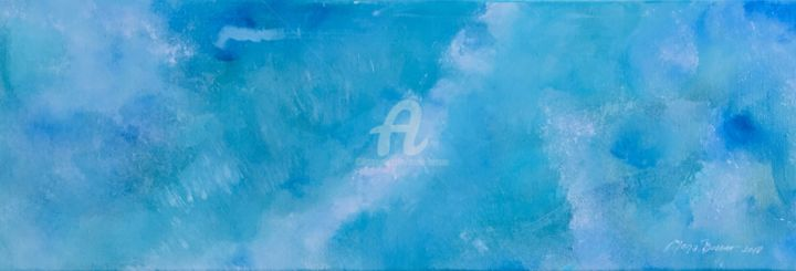 Once upon a time 2/2 - Painting,  20x60 cm ©2018 by Mona BESSAA -                                                            Abstract Art, Canvas, Abstract Art, mona bessaa
