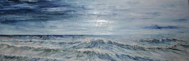 Painting,  150 x 50 cm ©2011 by Monica Bolfe -  Painting, Impressionism