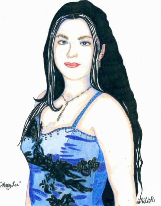 """Drawing titled """"Amy Lee From the Ba…"""" by Rocha Art, Original Art,"""
