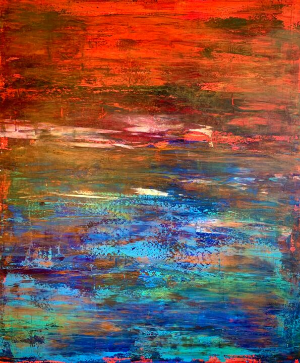 """Painting titled """"IT'S NEVER THE END"""" by Monica Maja Richardson, Original Art, Acrylic Mounted on Stretcher frame"""