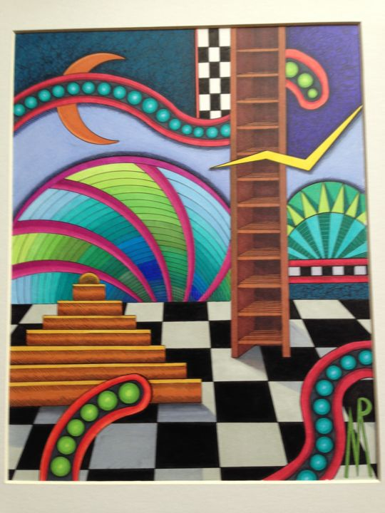 """Drawing titled """"Edge of Reason"""" by Monica Puryear, Original Art, Marker"""