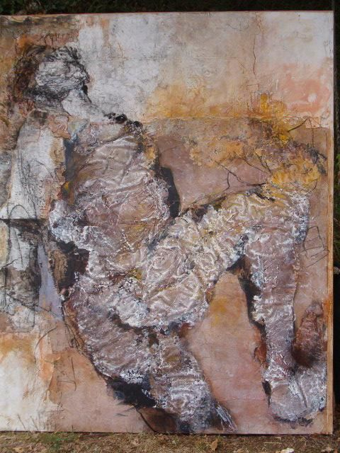 l'empreinte - Painting,  165x130 cm ©2004 by Catherine Monmarson -