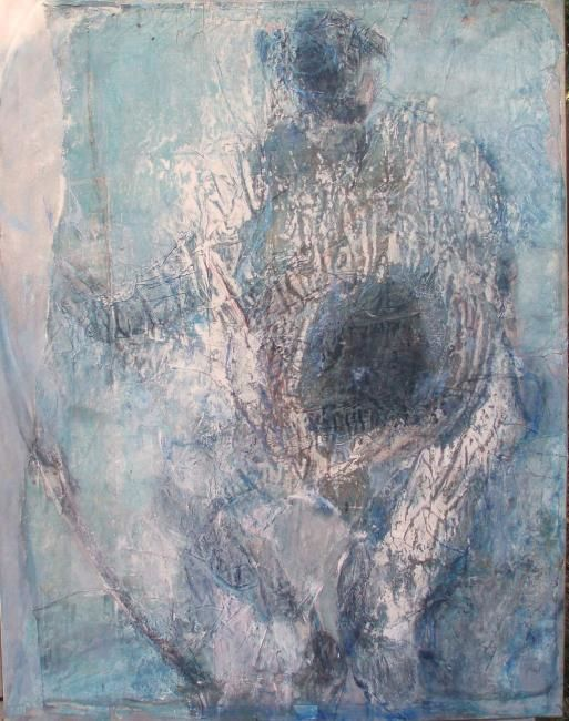chamane - Painting,  147x114 cm ©2009 by Catherine Monmarson -