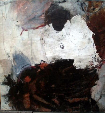 13 03 06 - Painting,  130x130 cm ©2010 by Catherine Monmarson -