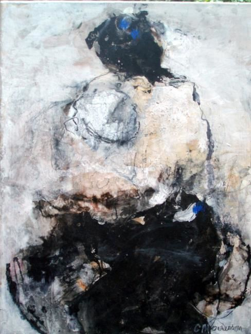 tendresses - Painting,  65x50 cm ©2012 by Catherine Monmarson -