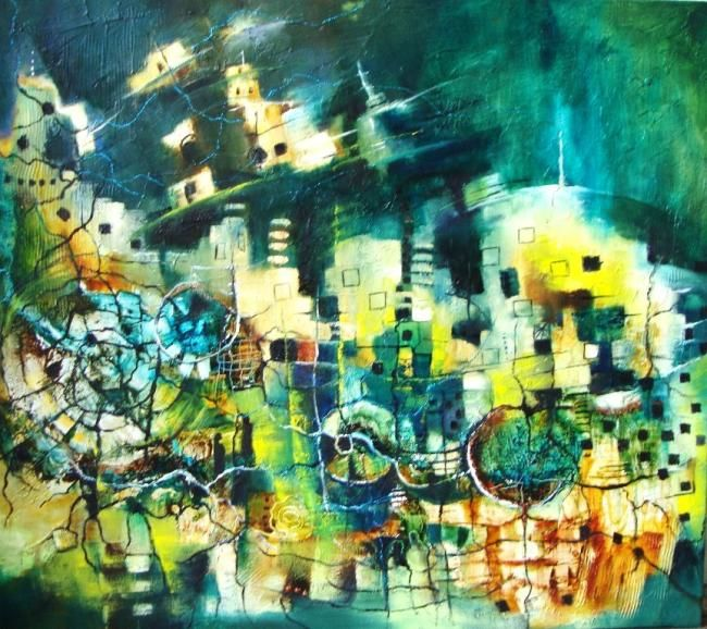 Sin Retorno - Painting,  0.4x0.4 in, ©2011 by Monokka -                                                                                                                          Abstract, abstract-570