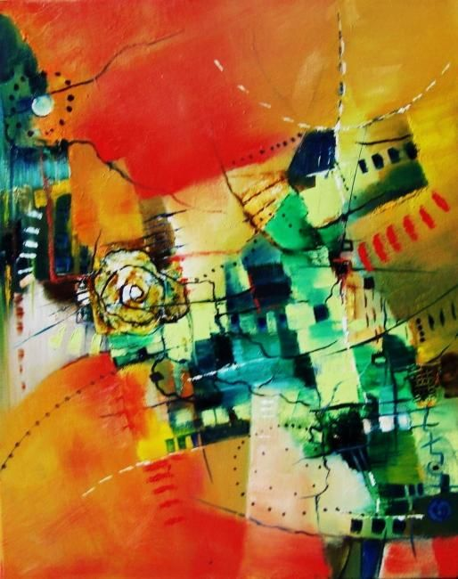 Caminito - Painting ©2011 by Monokka -                        Abstract Art