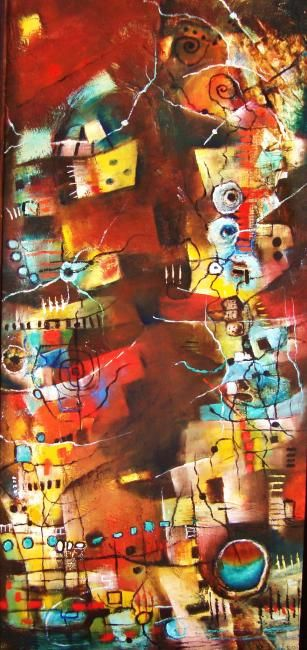 Dimension Estructural - Painting,  1.3 cm ©2012 by Monokka -                        Abstract Art