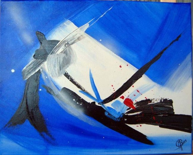 Divin - Painting,  15.8x19.7 in, ©2007 by Morena -