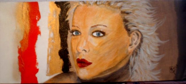 Sharon  acrylique - Painting,  7.9x19.7 in, ©2007 by Morena -