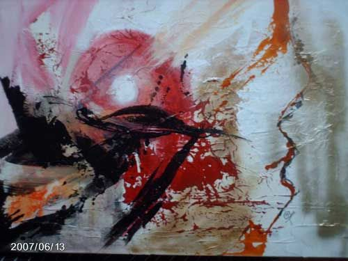 Migration - Painting,  27.6x35.4 in, ©2008 by Morena -