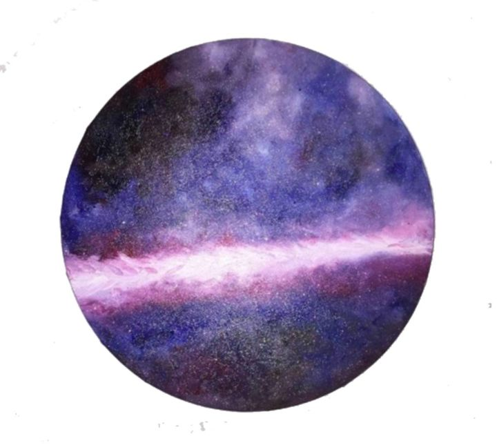 """Painting titled """"Oil painting """"Space"""""""" by Lena Mirar, Original Art, Oil Mounted on Stretcher frame"""
