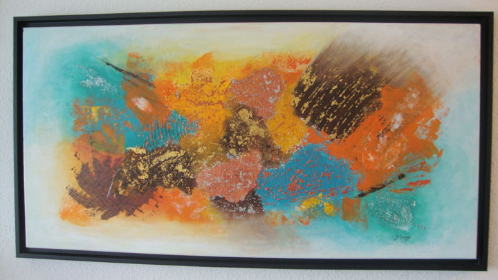 Abstrait - Painting,  19.7x39.4 in, ©2013 by Morgado -                                                                                                                                                                          Abstract, abstract-570, Art abstrait