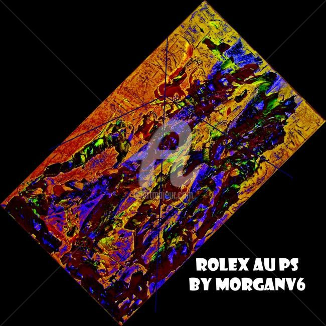 Rolex au Ps - Painting,  60x60 cm ©2012 by morganv6 -