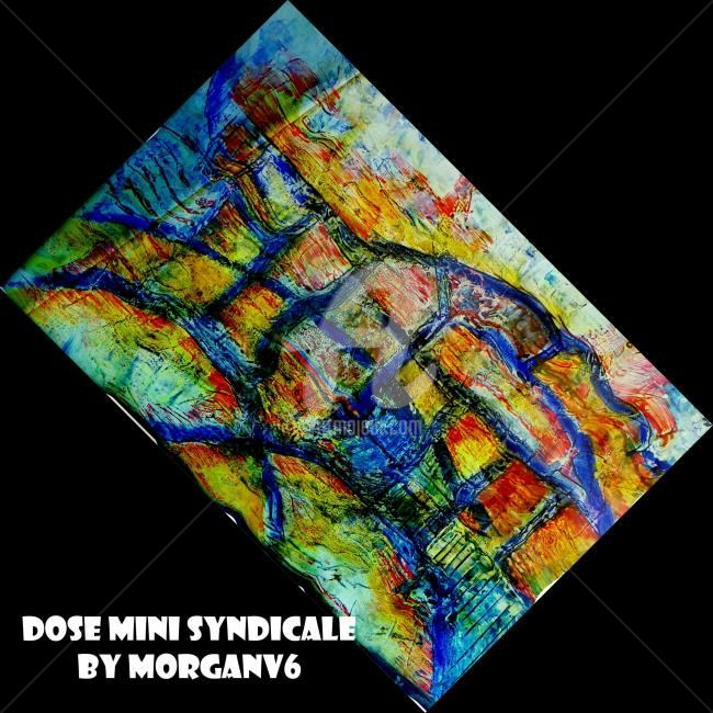 Dose mini syndicale - Painting,  60x60 cm ©2012 by morganv6 -