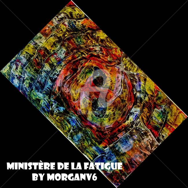Ministère de la fatigue - Painting,  60x60 cm ©2012 by morganv6 -