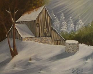 """Painting titled """"First Snow"""" by Joyce Gillaspie, Original Art,"""