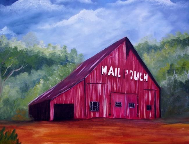 """Painting titled """"Ohio Country Barn"""" by Joyce Gillaspie, Original Art,"""