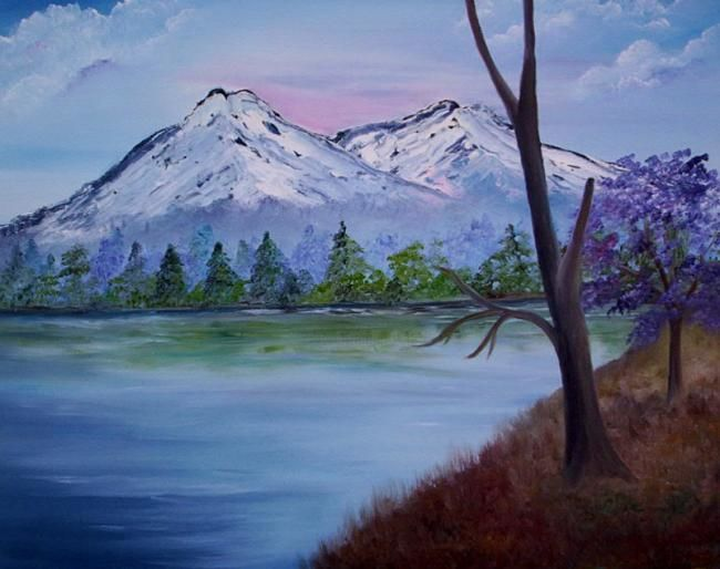 """Painting titled """"Rocky's of Colorado"""" by Joyce Gillaspie, Original Art,"""