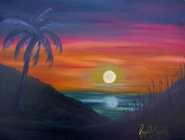 """Painting titled """"Now the Day is Over"""" by Joyce Gillaspie, Original Art,"""