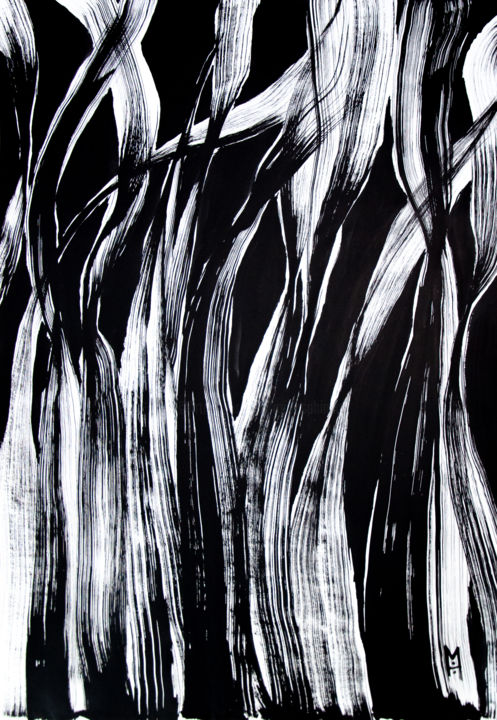 """Painting titled """"Growth 4"""" by Moro Sphinx, Original Art, Ink"""