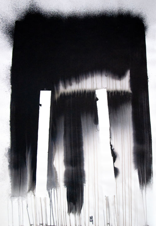 """Painting titled """"Commencement - 12"""" by Moro Sphinx, Original Art, Ink"""
