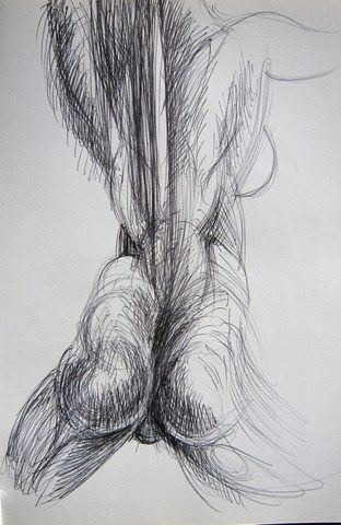 Anatomie Dos Drawing By Michel Moskovtchenko Artmajeur