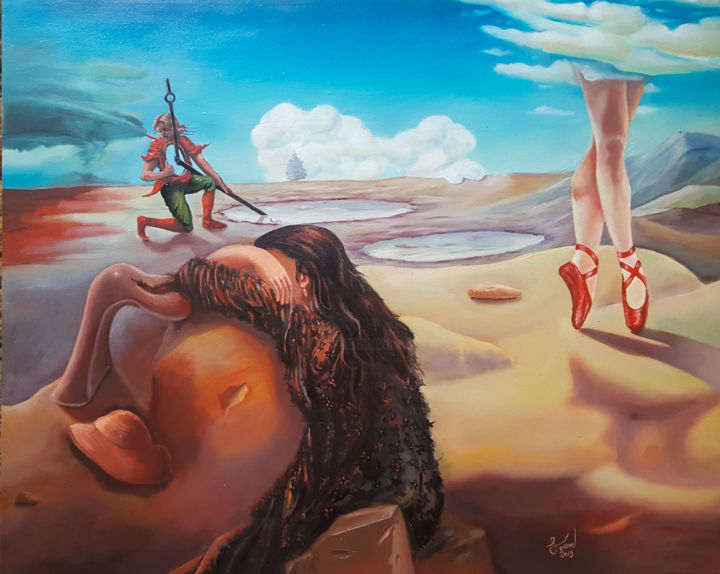 """Painting titled """"Domination of the p…"""" by Mourad Fouad, Original Art, Oil"""