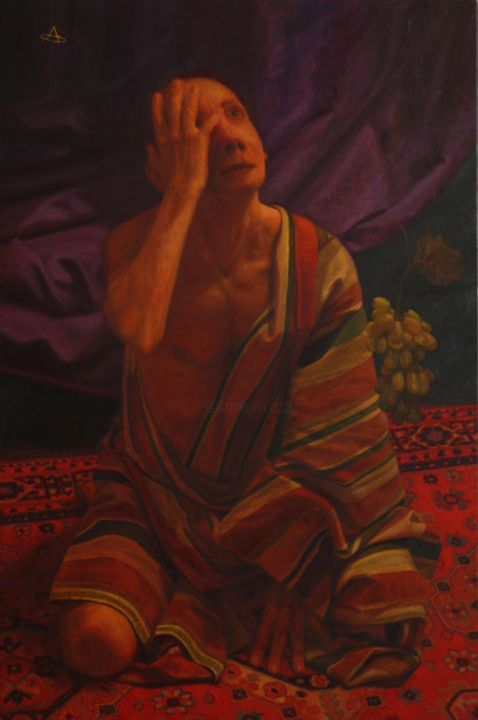 """Painting titled """"Mad Lycurgus"""" by Alexey Spirin, Original Art, Oil"""