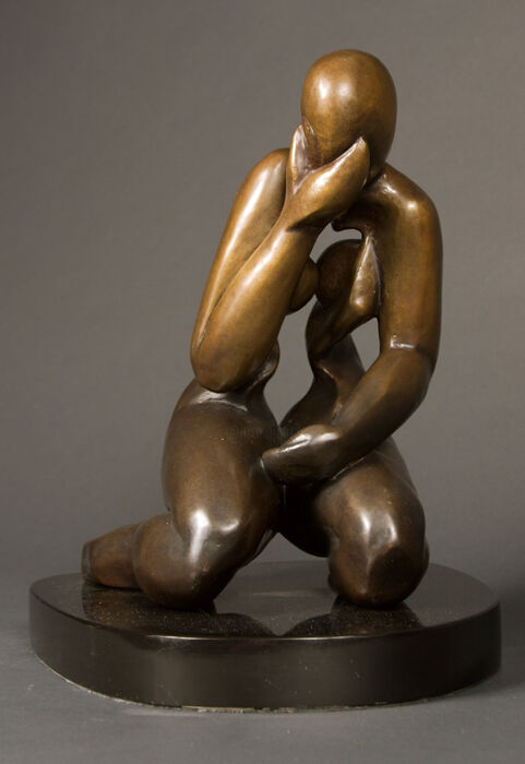"""Sculpture titled """"INTROVERTED"""" by Marie-Pierre Philippe-Lohézic (MPPL-ART), Original Art, Bronze"""