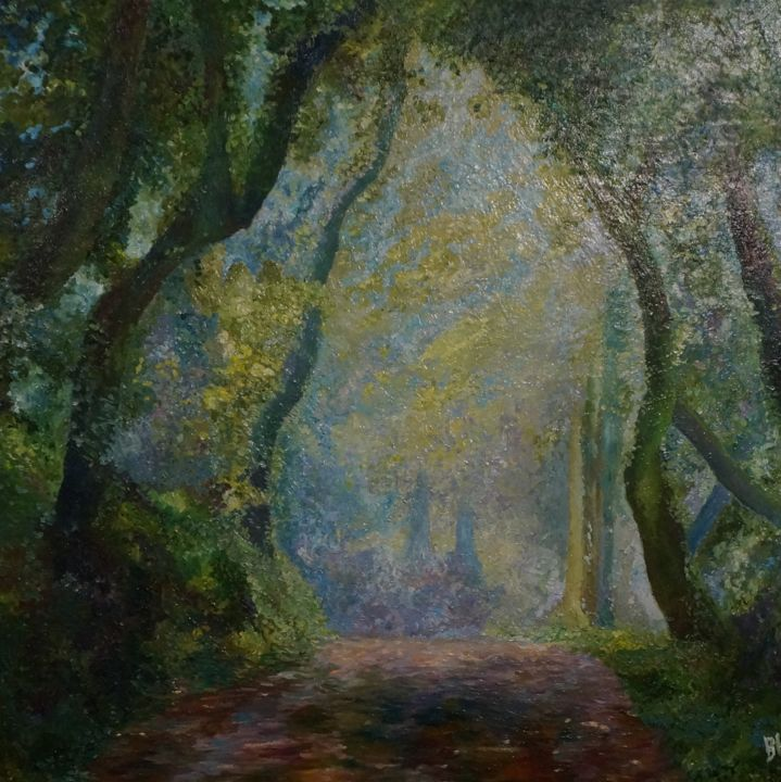 """Painting titled """"In the wood"""" by Mr. Nekalo, Original Art, Oil"""