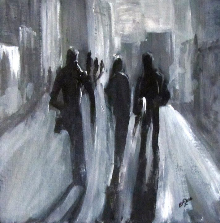 """Painting titled """"Time of Long Shadows"""" by Bobbie O'Toole, Original Art, Acrylic"""