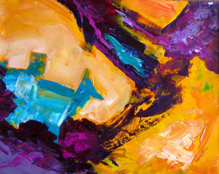 """Painting titled """"Mad Dogs and Englis…"""" by Bobbie O'Toole, Original Art, Acrylic"""