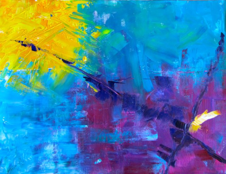 """Painting titled """"Spit Fire"""" by Bobbie O'Toole, Original Art, Acrylic"""