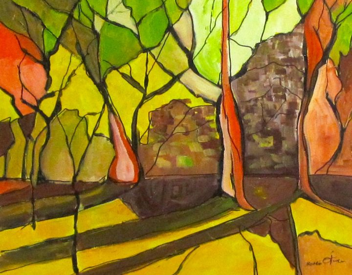 """Painting titled """"robyna-woods-24x30x…"""" by Bobbie O'Toole, Original Art, Acrylic"""