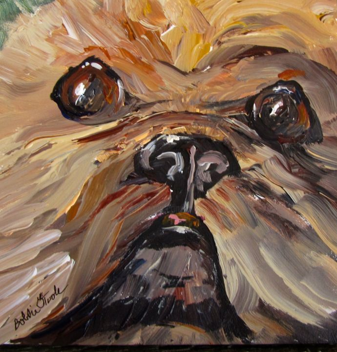 """Painting titled """"Mr Fuzzy Face"""" by Bobbie O'Toole, Original Art, Acrylic"""