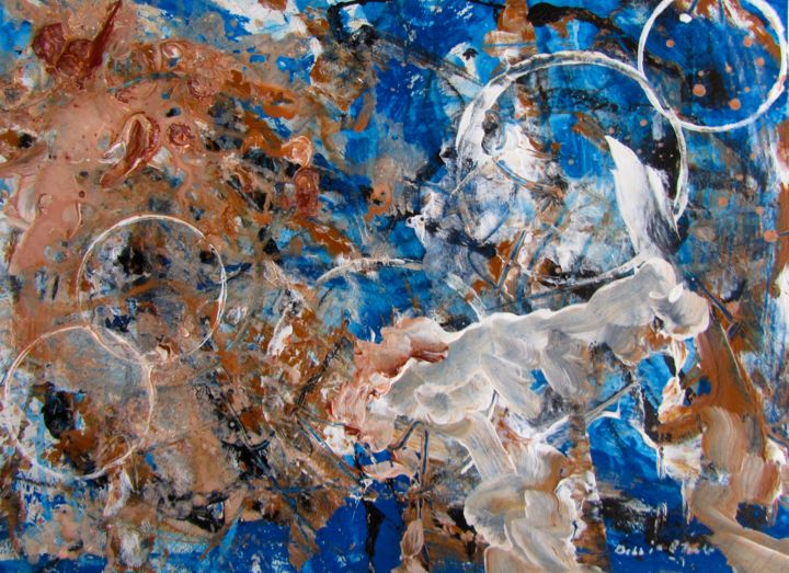 """Painting titled """"Rising to the Surfa…"""" by Bobbie O'Toole, Original Art, Acrylic"""
