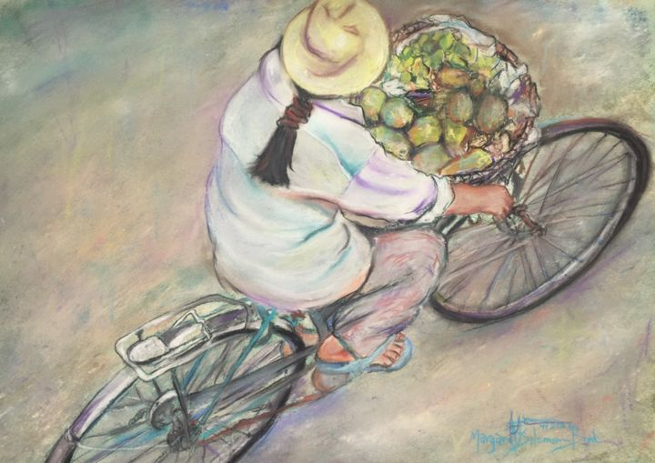 """Drawing titled """"Fruits of the Spirit"""" by Margaret Solomon-Bird, Original Art, Watercolor"""