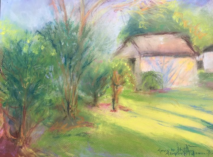 """Drawing titled """"Amen to this day!"""" by Margaret Solomon-Bird, Original Art, Pastel"""